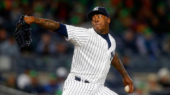 Chapman debuts for Yankees in victory over Royals