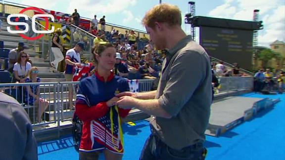 Invictus athlete returns gold medal to Prince Harry