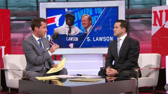 Video - Schefter: Bills not likely to get much from Lawson in rookie year...