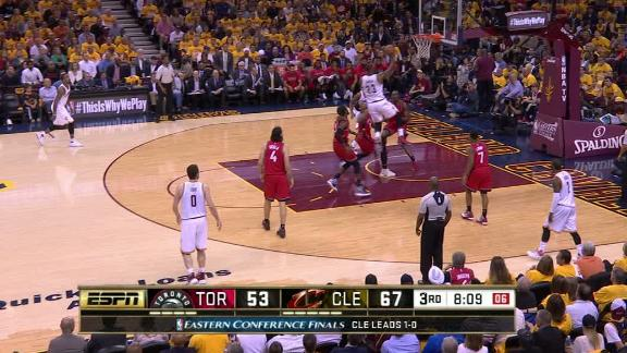 This layup gives LeBron fourth place on the postseason scoring list