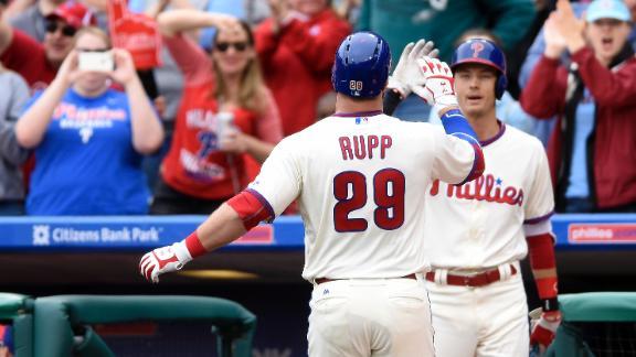 Rupp sneaks homer inside foul pole
