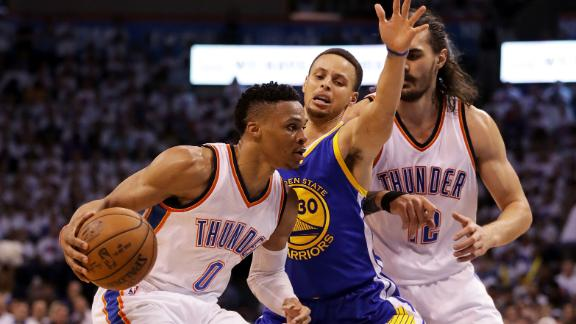 Westbrook, Thunder run Warriors out of OKC