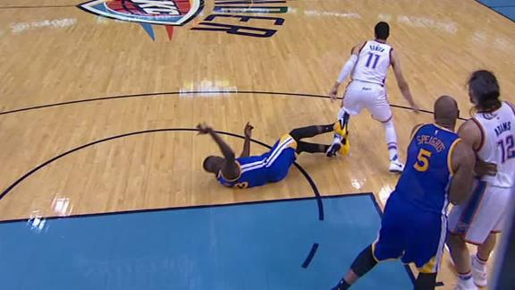 Was Draymond's trip of Kanter a dirty play?