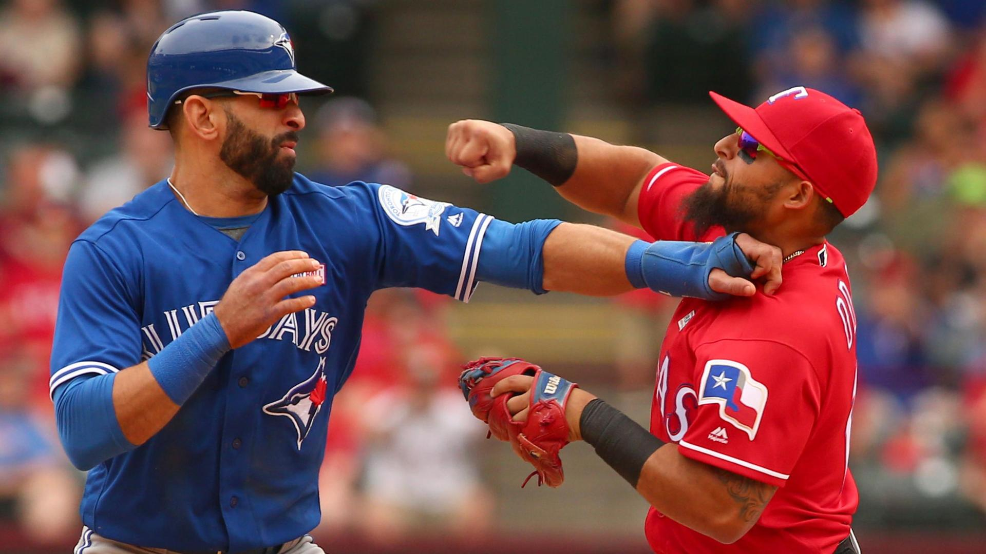 Bautista clocked in face by Odor