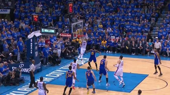 Westbrook lobs it up high to Roberson