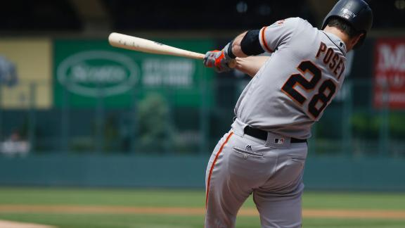 Posey's two three-run home runs boost Giants