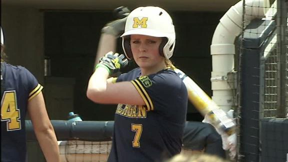 Wolverines rally to advance to WCWS