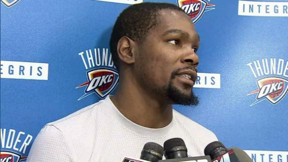 Durant: 'We can't feel sorry for ourselves'