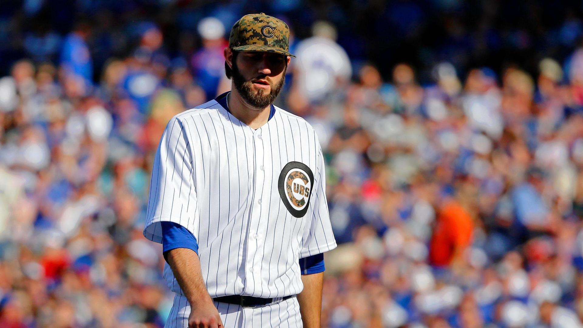 Hammel exits early, Cubs bullpen dominates Dodgers