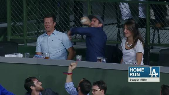 Fan throws back Seager's home run