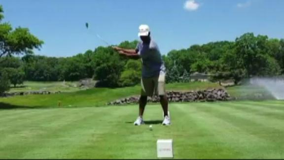 Video - Eli Apple's golf swing... less than stellar