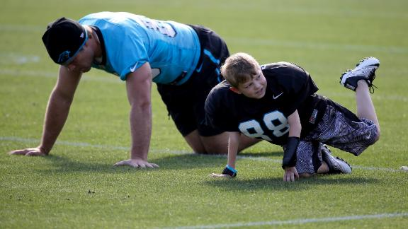Video - Olsen, Panthers make child's wish come true