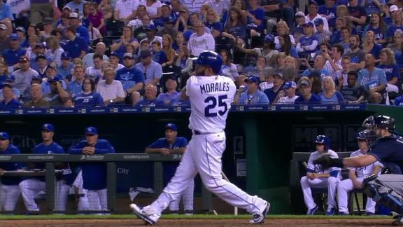 Morales send a two-run shot to right