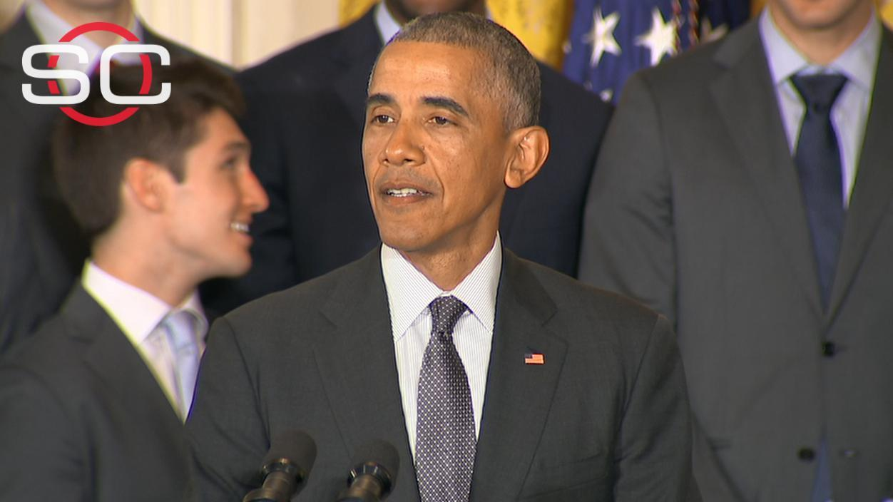 Obama hosts, honors Villanova