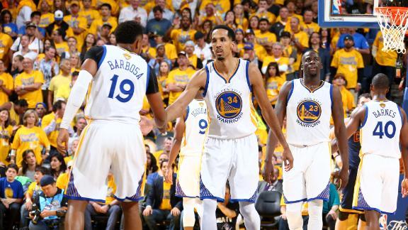 Team effort fuels Warriors past Cavs in Game 1