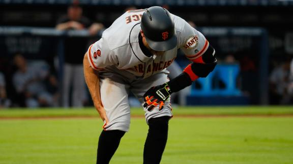 Pence leaves game with hamstring strain