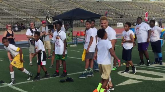 Video - Mathieu returns home to New Orleans to host youth cam