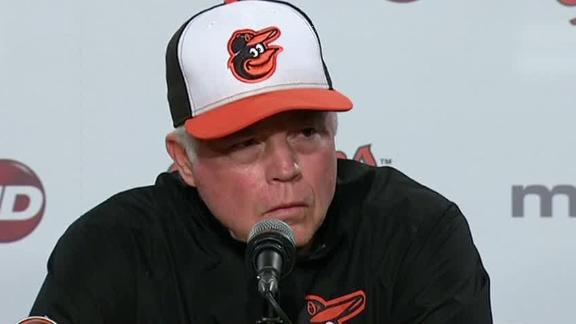 Showalter: I don't like when my guys are put in harm's way