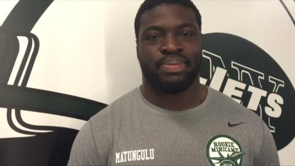 Video - Jets rookie Matungulu found football by accident