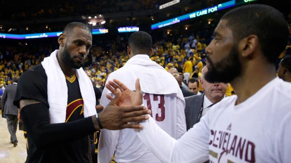 Cavs fend off elimination behind 82 from LeBron, Kyrie