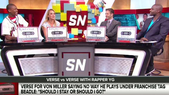 Video - What song lyric best represents Miller's contract status?