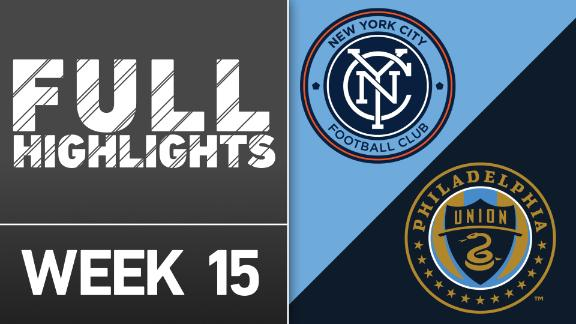 Video via MLS: NYCFC 3-2 Philadelphia Union