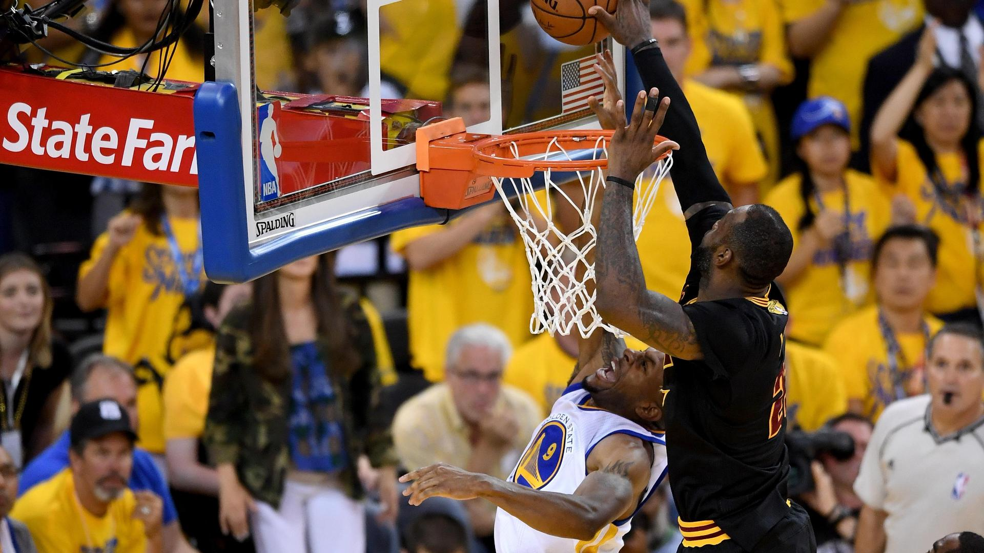 Andre Iguodala on Finals block: 'If J.R. is not there, I'm dunking it'