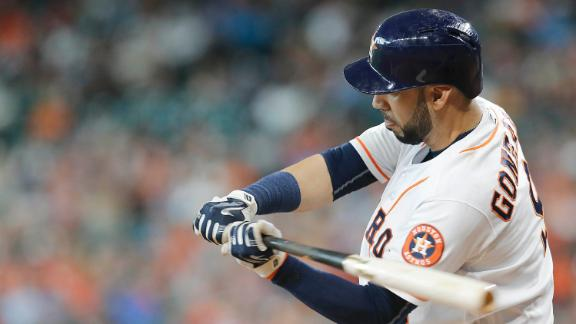Gonzalez's triple gives Astros lead over Angels