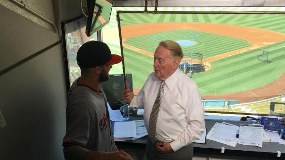 The MVP meets the Real MVP: Bryce Harper and VIN Scully.