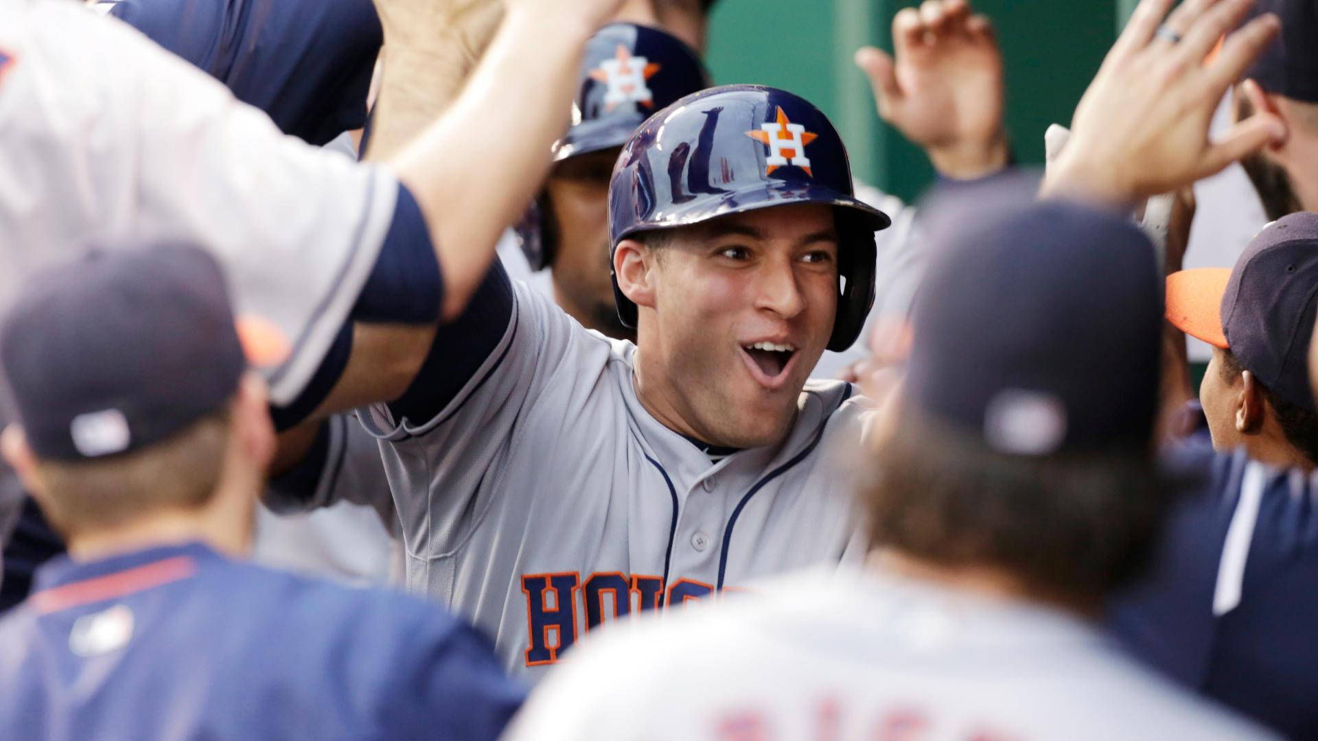 Springer clears the bases for 9-0 lead in first