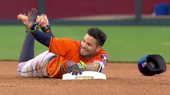 Hey Altuve, if you want a cycle don't trip over second!