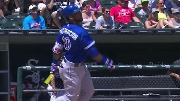 Encarnacion plates two on bloop single