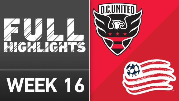 Video via MLS: D.C. United 2-0 NE Revolution