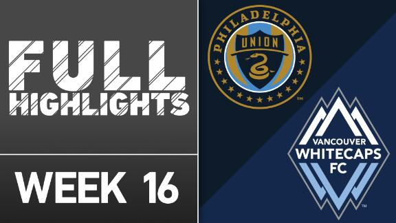 Video via MLS: Philadelphia Union 2-3 Vancouver Whitecaps