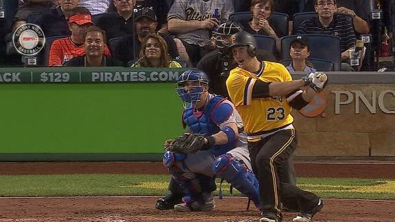 Freese's double clears the bases