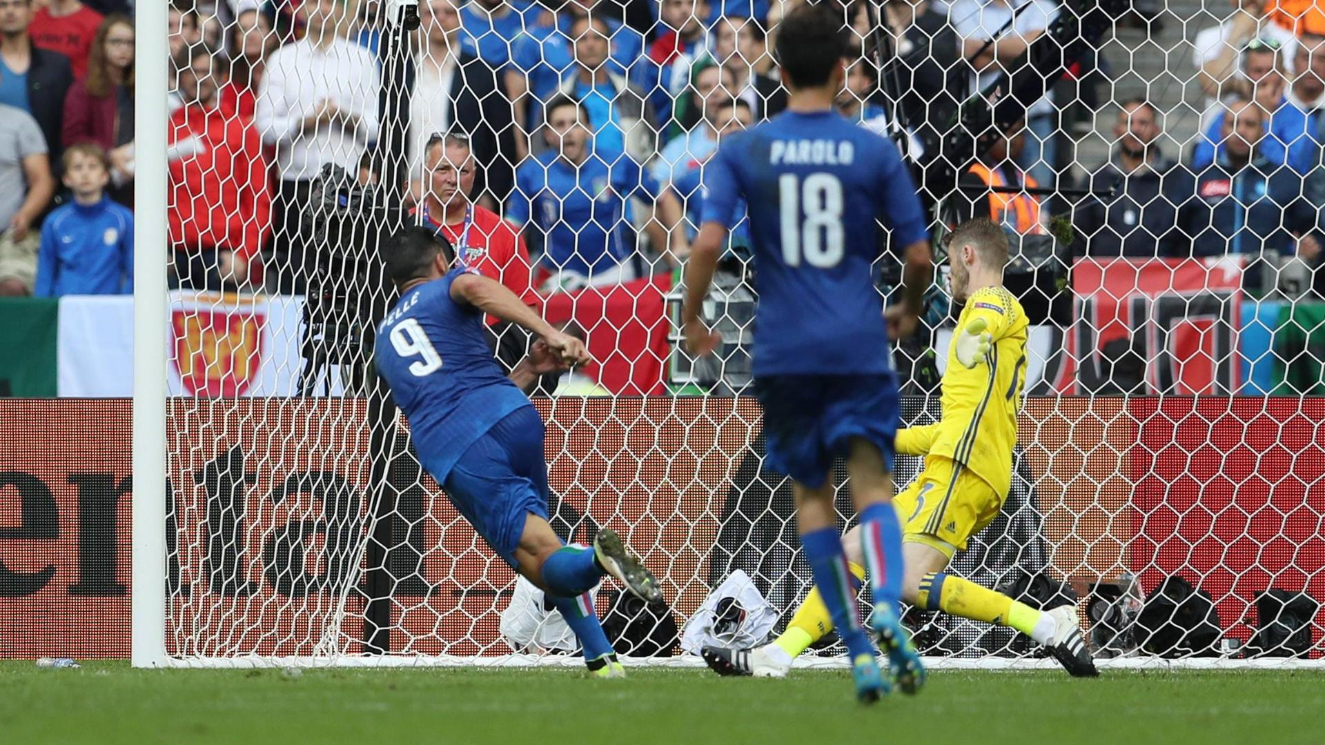Pelle scores in stoppage time to secure Italy's win