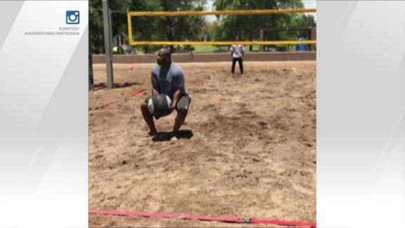 Video - James Harrison and friends reinvent volleyball