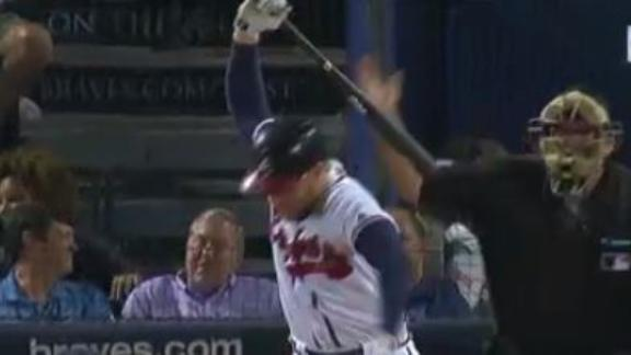 Freeman takes out anger on poor, innocent bat