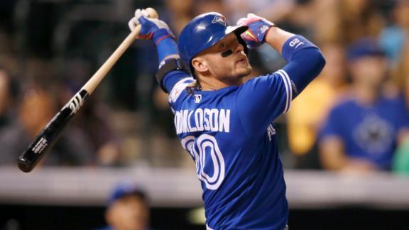 Donaldson goes deep to snap homerless streak