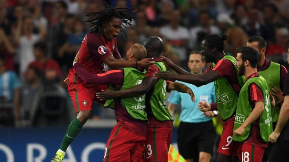 Portugal's Sanches scores the equalizer