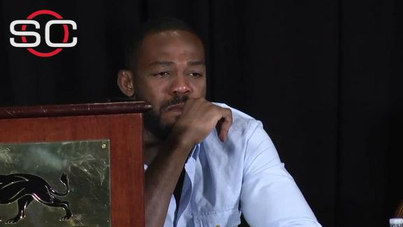 Jon Jones overcome with emotion