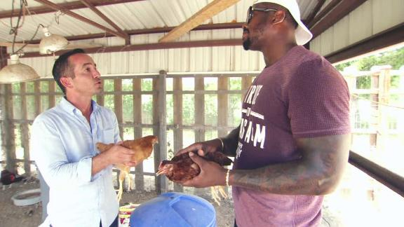 Video - Hang time with Von Miller and chickens