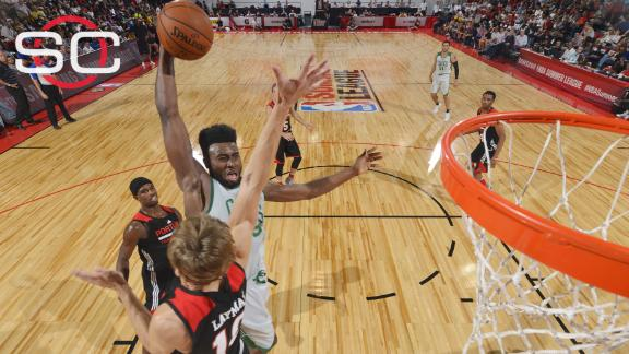 Brown scores 21 in C's loss to Blazers