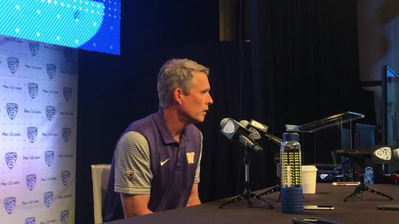 Washington coach Chris Petersen discusses how Marcel Yates -- who coached with