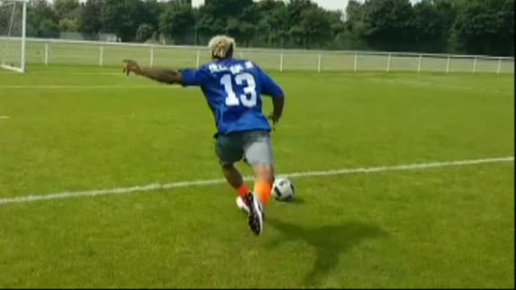 Video - Rugby or futbol? OBJ can handle both