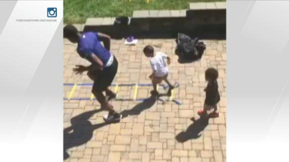 Video - Torrey Smith's sons can do an NFL workout