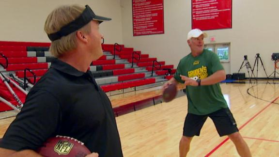 Video - Hall of Famer Brett Favre goes to Gruden's QB Camp