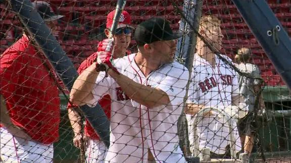 Video - Edelman puts on BP show at Fenway