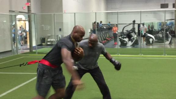 Video - How Peterson keeps laser focus during ball security drills