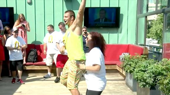 Video - Gronk teaches a Zumba class... that is all